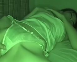 【夜這いレイプ動画】巨乳でモデルのセクシー姉を強姦しハメ撮りする変態弟による近親相姦