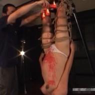 【鬼畜SM】身重妊婦に逆さ吊りろうそく責めされる女・・・子供が心配になるレベル