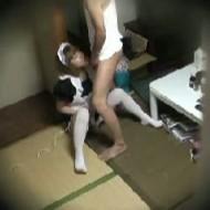 【デリヘル盗撮動画】メイドコスプレでフェラしてくれる風俗嬢を押し倒して中出し・・・更に隠し撮りwww