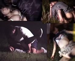 【本物レイプ動画】暗闇の山奥で恐怖を感じながら犯されヤリ捨てされる少女のガチでトラウマなる映像