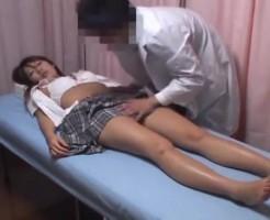 【レイプ盗撮動画】体調不良の女子高生に睡眠薬を飲ませ失神している間に中出しレイプする鬼畜医師の盗撮映像・・・