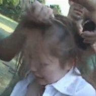 【拷問レイプ動画】軍人に集団レイプされた後、更にバリカンで髪をボウズにされる鬼畜動画・・・