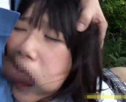 【JCレイプ動画】下校中にロリコンの土建屋に青姦レイプされてしまった女子中●生!