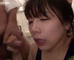 【JCレイプ動画】トイレに拉致られた美少女JCがDQNの精子を飲み続ける集団レイプ