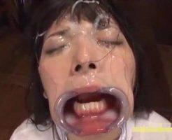 【ロリレイプ】制服少女の手足を縛って嗚咽させながらイマラチオ!幼い顔面を白くがザーメンまみれに凌辱していく・・・