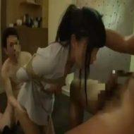 【ロリレイプ動画】清楚な女子校生を緊縛解禁して口とマンコをを同時に犯す串刺しレイプ!