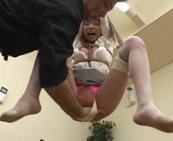 【拘束レイプ動画】キチガイに中吊緊縛されたOLが肉便器にされる陵辱レイプ・・・
