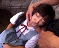 【JCレイプ動画】完全アウト!下校中の中学生に見える制服少女を駐車場に連れ込み凌辱強姦・・・