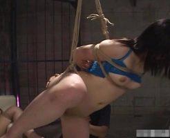 【無修正レイプ動画】美人OLを監禁するサイコ野郎の性奴隷調教録!四肢緊縛した女のアナルをめった刺し!