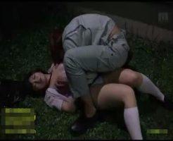 【JKレイプ動画】※残虐注意!夜道を歩く女子校生を工事現場に引きずり込んで青姦レイプ・・・