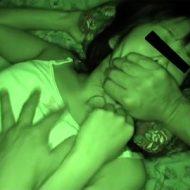 【本物レイプ動画】一人暮らしの女性の家に不法侵入して夜這い中出し!