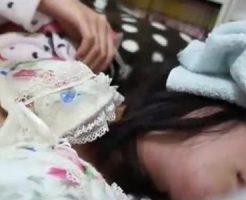 【近親相姦レイプ動画】薬を盛って眠らせたJKの娘達の体を犯すキチガイ親父の個人撮影主観映像