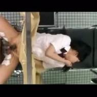 【レイプ盗撮動画】妊娠検査に来た女子高生を媚薬と電流責めで意識を奪って強引に中出しレイプする鬼畜医師・・・