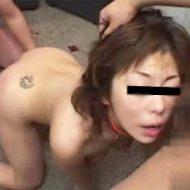 【無修正】性奴隷に調教した女を輪姦 好き放題に犯しまくる鬼畜映像