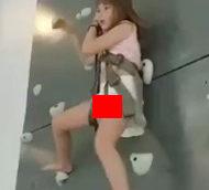 JSかJCくらいの可愛い女の子がボルダリングの事故で死ぬ瞬間…
