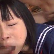 【無修正】制服ブルマのJKが男二人に二穴ファックされて悶絶!