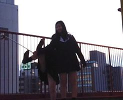無防備にパンツを見せる女子高生を隠し撮り!