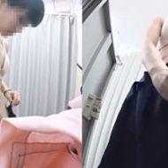 某コンビニ店員のJKが着替える様子を隠し撮りされる