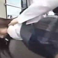バスの中で痴漢に襲われる可愛い女子高生が立ちバックで陵辱されていく
