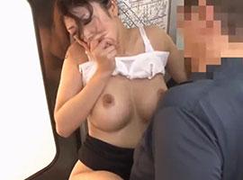 巨乳の美人教師が電車の中で男の力に抗えずレイプされる